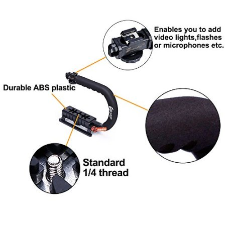 Zeadio Berufs Aktion Stabilisator Griff mit Zubehörschuh für Canon Nikon Sony DSLR Camcorder Kamera DV -