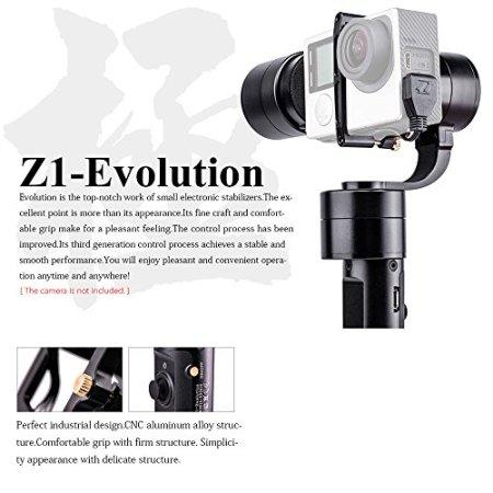 Zhiyun Z1-Evolution 3 Achsen Handheld Gimbal Stabilisator mit 4 Wege Joystick für GoPros Xiaomi Yi Actionkameras -