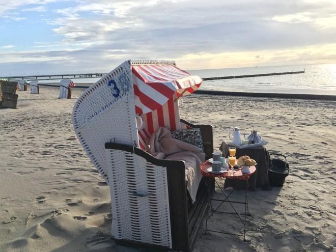 Unser Strandkorb am SüdStrand von Großenbrode