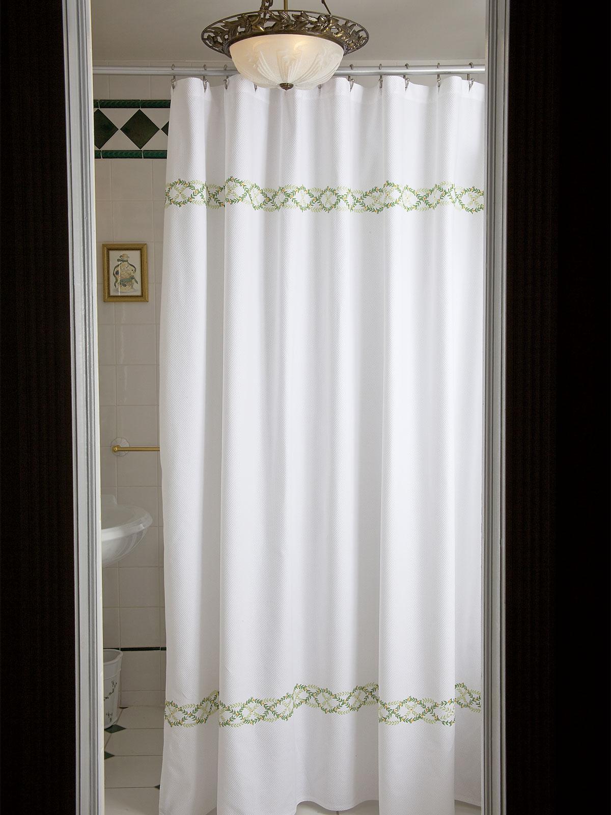 Arden Shower Curtain Luxury Shower Curtains Luxury Bath Accessories Luxury Bath Linen Schweitzer Linen