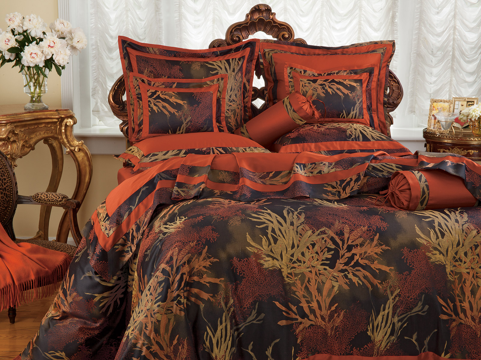 Coral Reef Luxury Bedding Italian Bed Linens