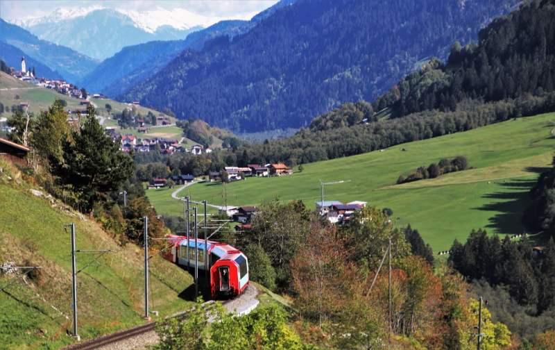 Åk med tåg i Schweiz