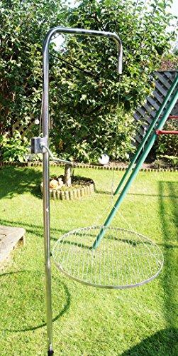 Edelstahl Grillgalgen + 70 cm Grill nur 14mm Stababstand Gartengrill Grill Grillrost Schwenkgrill Schwenker BBQ - 2