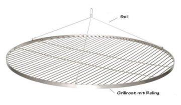 XXL 80 CM GRILLROST EDELSTAHL SCHWENKGRILL GRILL ROST NEU - 1