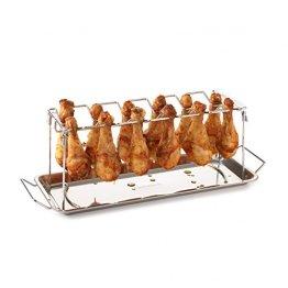 barbecook Grillzubehör, Hähnchenschenkel-Halter, grau, 42 x 16,5 x 14 cm, 2236140000 -