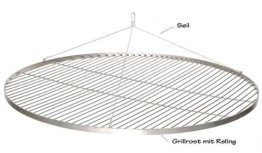 XXL 100 CM GRILLROST EDELSTAHL SCHWENKGRILL GRILL ROST NEU -