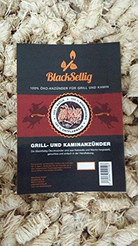 20 Kg Steakhousekohle + 20 Stück Öko Anzünder von BlackSellig reines Quebracho Holz- perfekte Restaurantqualität-REACH-registrierte Holzkohle - 2