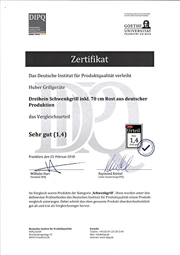 Huber Grillgeräte Dreibein Schwenkgrill inkl. 70 cm Rost aus deutscher Produktion - 7