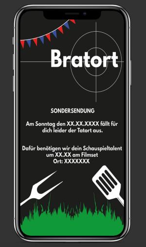 Grillparty Einladungskarte Smartphone