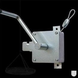 Schneider Kurbel mit 3 m Stahlseil Schwenkgrill Schwenker - 1