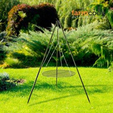 FARMCOOK Schwenkgrill NOBEL Dreibein mit Grillrost aus Rohstahl in 4 Größen (Ø 70 cm) - 7