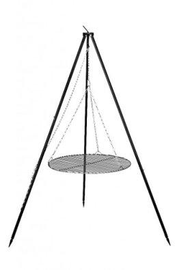 FARMCOOK Schwenkgrill NOBEL Dreibein mit Grillrost aus Rohstahl in 4 Größen (Ø 70 cm) - 1