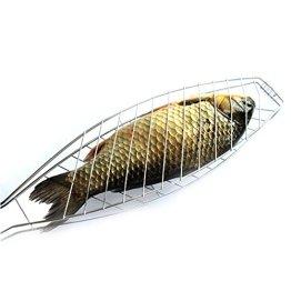 SUNRIS Edelstahl Antihaft Mesh Holzgriff Gegrillter Fisch Barbecue Clip Net Outdoor Burger BBQ Werkzeuge Grills - 1