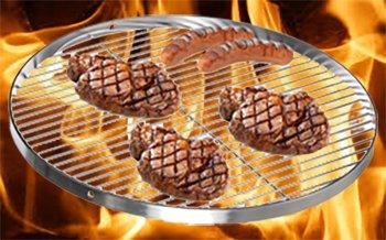 Brandsseller Edelstahl Grillrost Schwenkgrill geeignet - Rostfrei Edelstahl 18/0 Asi 430 Nickel frei - Ø 70 cm - 8