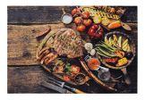 andiamo Fußmatte/Grillmatte im Flammendesign/antirutsch In- und Outdoor geeignet 80 x 120 mit Flammen, Farbe:Bunt, Größe:80 x 120 cm - 1