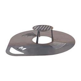 RM Design Grillplatte Bratplatte Feuerplatte Grillzubehör Feuerstelle 80 cm Durchmesser - 1