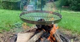 Schwenkgrill Grillrost mit Rehling