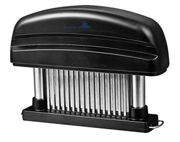 Fleisch-Tenderizer - Professionelles Kommerzielles Küchenwerkzeug mit 48 Klingen aus rostfreiem Stahl mit Rasiermesser(Black) - 1