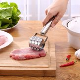 LQZ(TM) Fleischklopfer Fleischzartmacher Fleischsteaker Steaker für Fleisch aus Edelstahl 21.3x4cm - 1