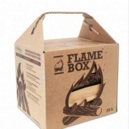 JSM Flamebox Grillholz Birke BBQ Set ofenfertig, Scheitlänge ca. 25 cm - für Kamin, Ofen, Feuerschalen, Lagerfeuer - Birkenholz Kaminholz Feuerholz Grillholz - 1