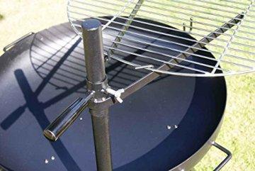 AKTIONA Edelstahl Ø 60 cm V2A Grillrost + Massive Halterung für Feuerschale Feuerkorb Grill - 7