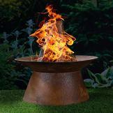HI Feuerschale in Rostoptik Feuerstelle Gartenfeuer Feuerkorb Pflanzschale 50 cm - 1