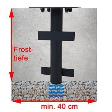 Mendler Bodenhülse HWC-A96, Bodenanker Schirmständer, Ø 49mm z.B. für Luxus-Ampelschirme - 3