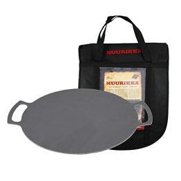 MUURIKKA Grillpfanne 48cm inkl. Schutztasche, Outdoor Pfanne, Feuerpfanne aus robuster Walzstahl für Lagerfeuer & Grill… - 1
