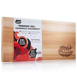 OVERGRILL Zedernholzbrett zum Grillen: Premium XXL Zedernholz Rauchbrett – Holzbrett zum Grillen aus Kanadischem Western Red Holz, Grillholzbrett für mildes Raucharoma, Grillplanke Zedernholz - 1