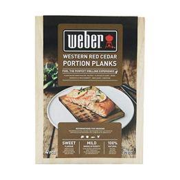 Weber 17832 Räucherbretter aus Zedernholz 11x15 cm, 4 Stück, Räuchern, Aroma, Grillen - 1