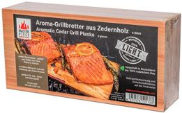 "Masterpiece ""light SIX"" - 6 Aroma Grillbretter aus Zedernholz, 12 mm stark, Grillplanke Premium Qualität, Set á 6 Stk, Maße: 145 x 295 mm, BBQ Räucherbretter im günstigen 6er Pack - 1"