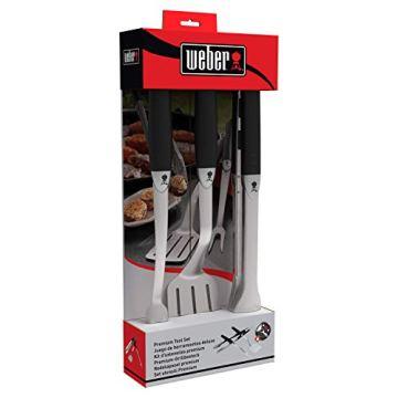 Weber 6630 Premium Grillbesteck, 3-teilig bestehend aus Zange, Wender und Grillgabel, 46 cm - 5