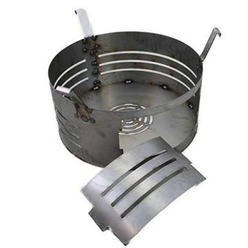 A. Weyck Tools Komplettset Feuertonne Feuerplatte 100cm 6mm Grilltonne Plancha Feuerkorb Set #197 - 4