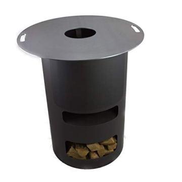 A. Weyck Tools Multifunktionstonne | Feuertonne | Feuerplatte | Dutch Oven Station | Pizza Ofen | Kamin | Plancha | Komplettsets (Multitonne-100cm Feuerplatte Set #170) - 8