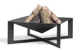 Feuerschale Cuba L 70 cm Feuerstelle für Garten aus Stahl Feuerkorb als Wärmequelle oder Grill CookKing - 1