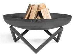 Feuerschale Santiago Ø 80 cm Feuerstelle für Garten aus Stahl Feuerkorb als Wärmequelle oder Grill CookKing - 1