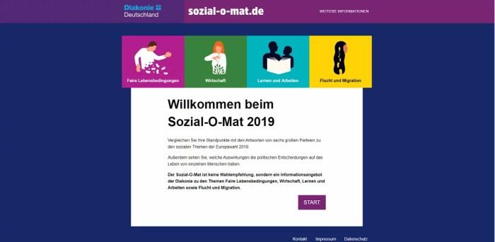 Diakonie startet Sozial-O-Mat zur Europawahl