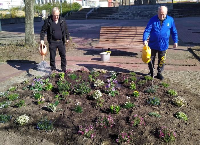 Schwerin: Blumen für den Berliner Platz