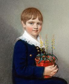 Charles Darwin as a boy