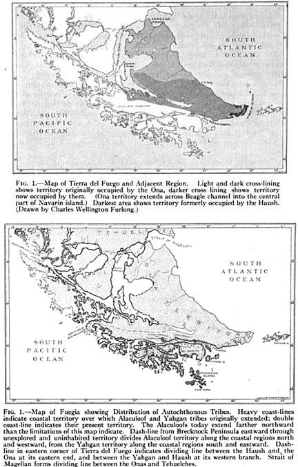 Distribution of Fuegians