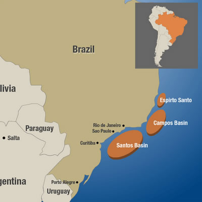 Brazilian offshore oil producing basins