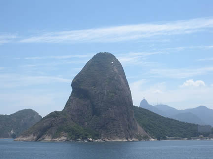 Sugarloaf Mountain from the Atlantic Ocean
