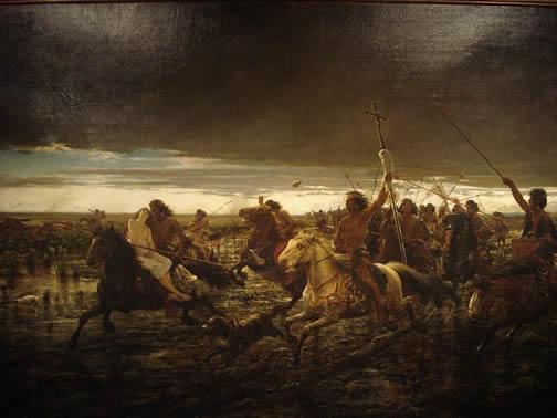 Painting - Return of the Raiders
