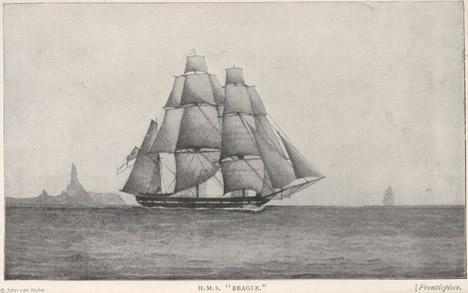 John Clements Wickham's sketch of the Beagle