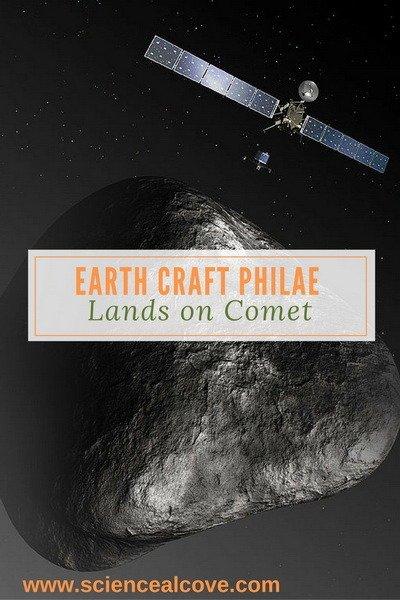 Earth Craft Philae Lands on Comet