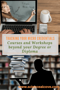 Tracking Your Micro credentials - Courses and Workshops beyond your Degree or Diploma-feature -https://sciencealcove.com/2018/03/tracking-your-micro-credentials/