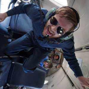 aboard the Falcon-20