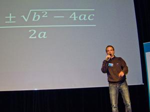 Er erntete einen Preis und Begeisterungsstürme: Youtube-Mathematikformeln-Rapper und -Blogger Johann Beurich.