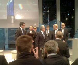 Fertig zum Siegerfoto - Der Bundespräsident mit Nominierten und Siegern. (Foto: Korbmann)