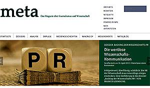 Breitseite gegen die Wissenschaftskommunikation - meta, das online-Magazin der Wissenschaftsjournalisten.